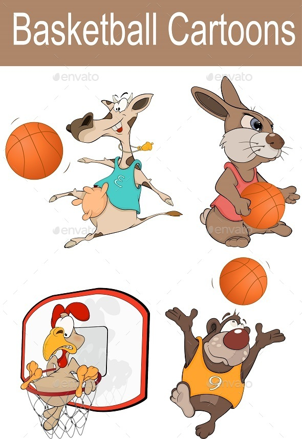 GraphicRiver Basketball Cartoons 1 9200435