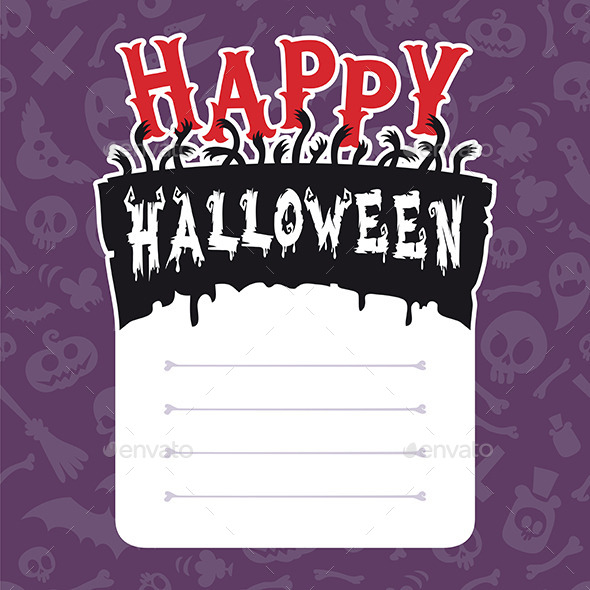 GraphicRiver Happy Halloween Card with Text Box 9178525