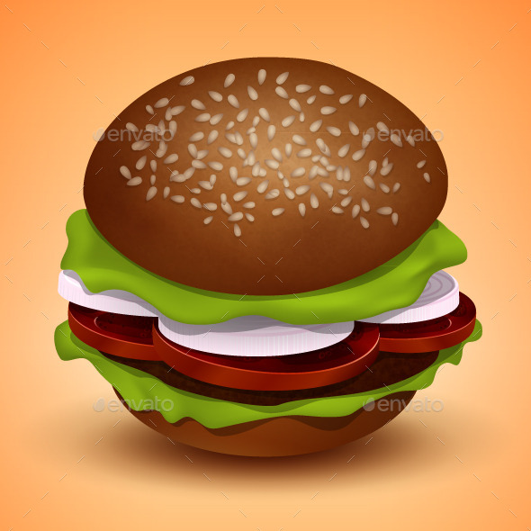 GraphicRiver Vector Burger Illustration 9201045