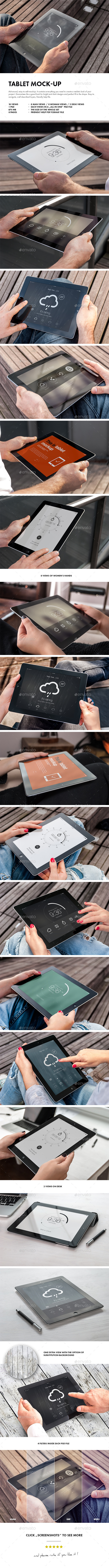 GraphicRiver Tablet Mock-up 9201108