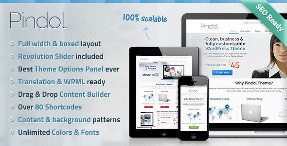 Pindol Premium WordPress Theme - Business Corporate