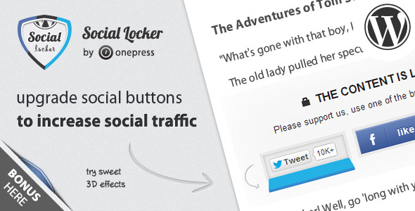 Wordpress Social Locker Plugin
