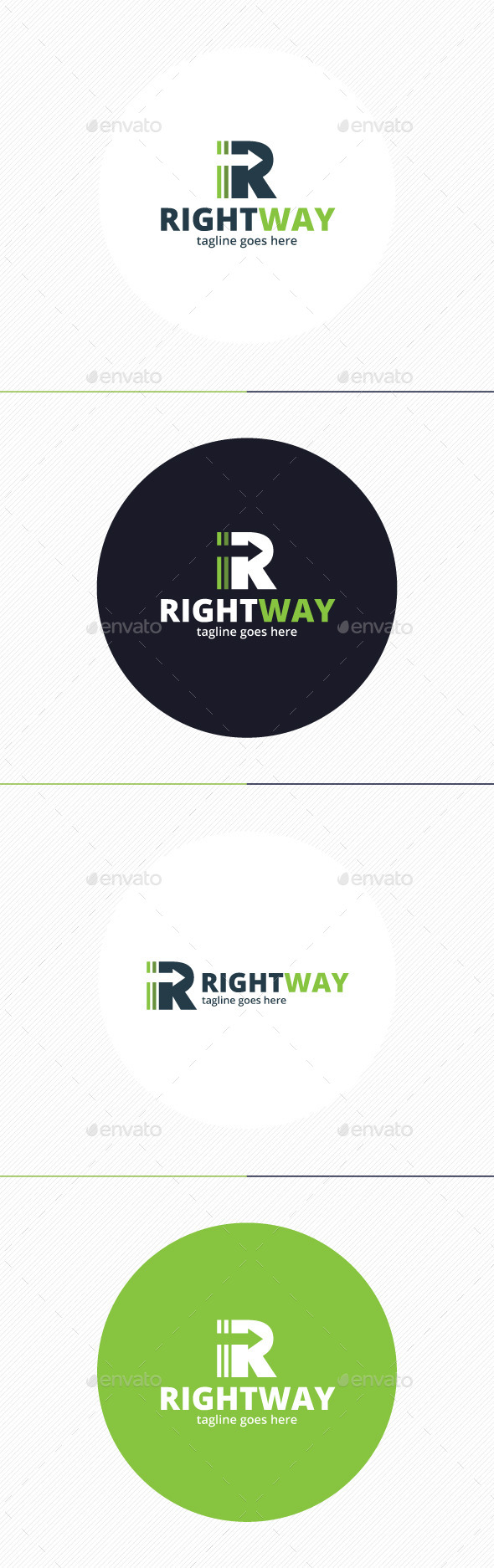 GraphicRiver Right Way Logo Letter R 9201149