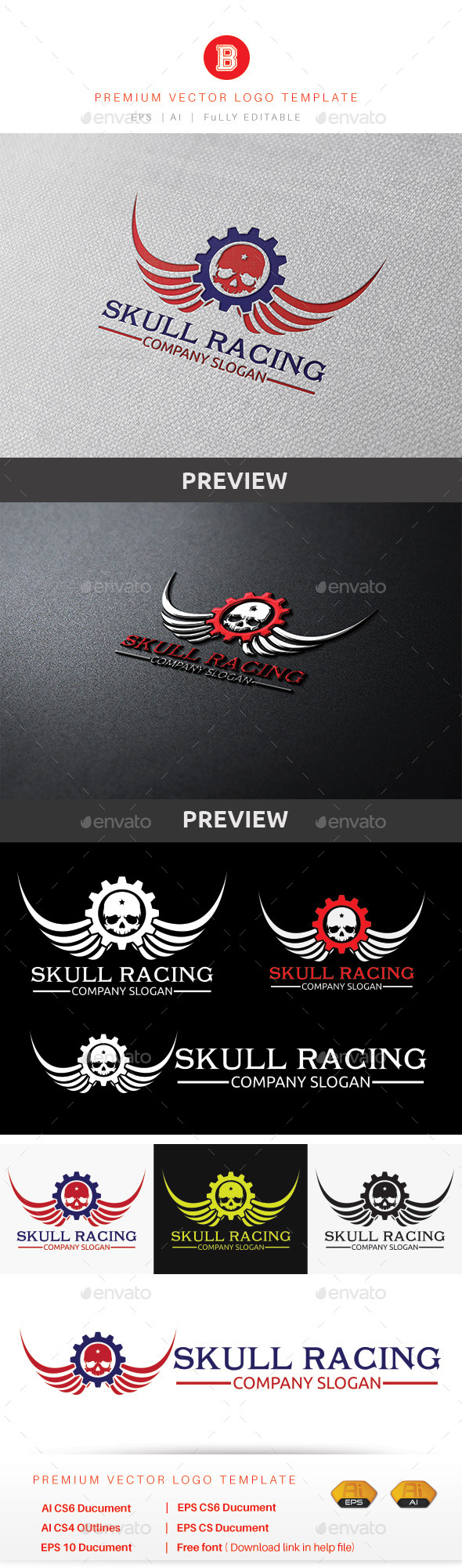 GraphicRiver Skull Racing 9201455