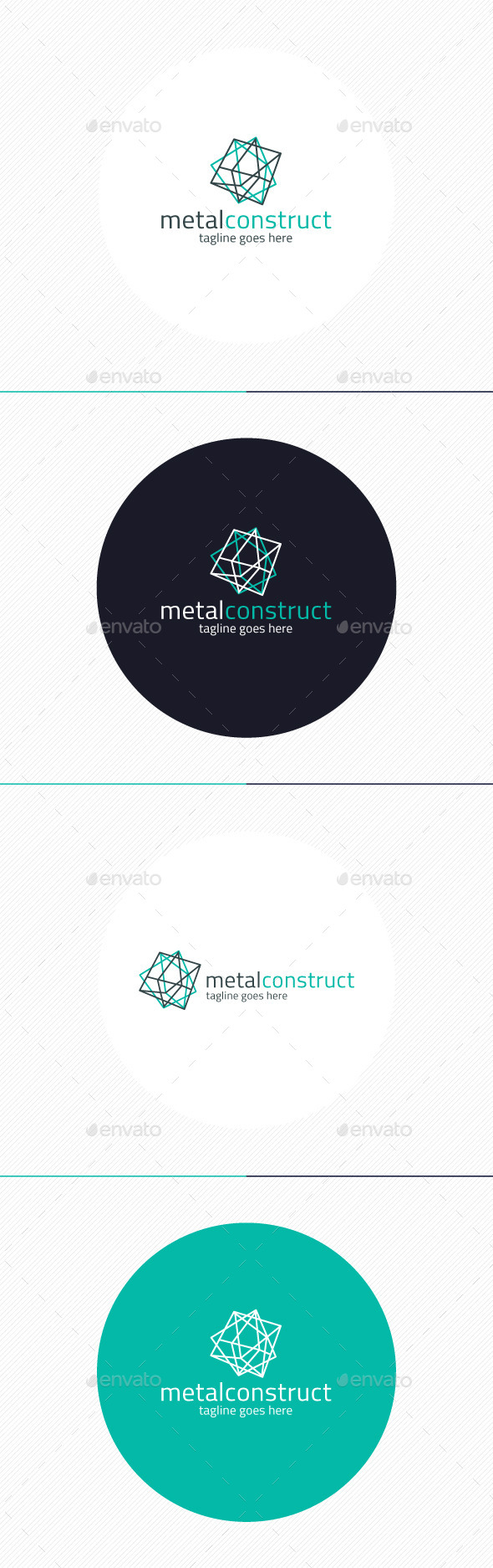 GraphicRiver Metal Construct Logo 9201460