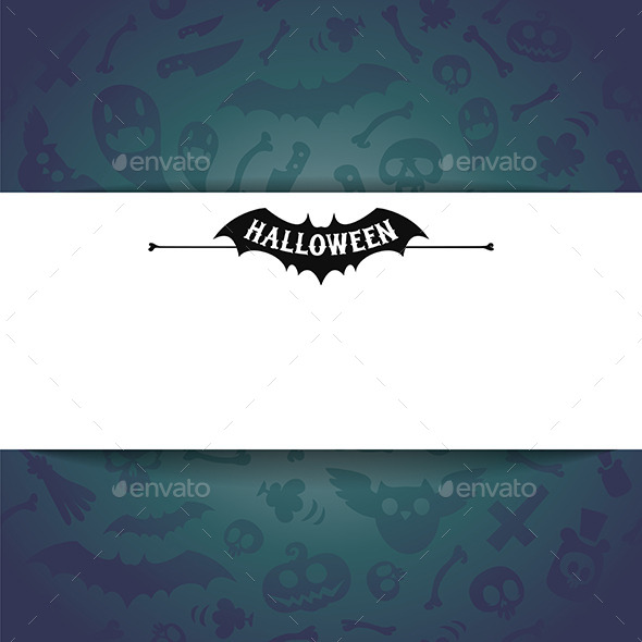 GraphicRiver White Paper Sheet on Dark Halloween Background 9183873