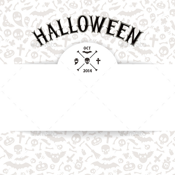 GraphicRiver White Paper Sheet on Light Halloween Background 9184340