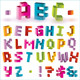 3d bright vector pixel alphabet  - GraphicRiver Item for Sale