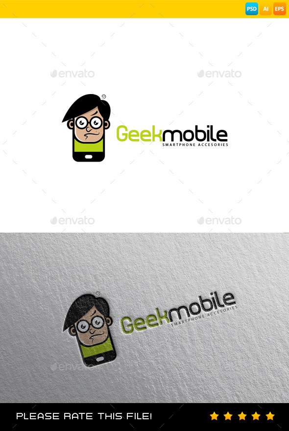 GraphicRiver Geek Logo 9182615