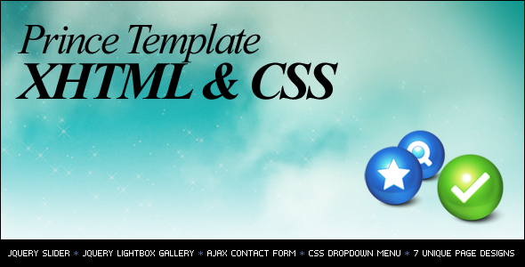 Prince XHTML/CSS Template - Preview