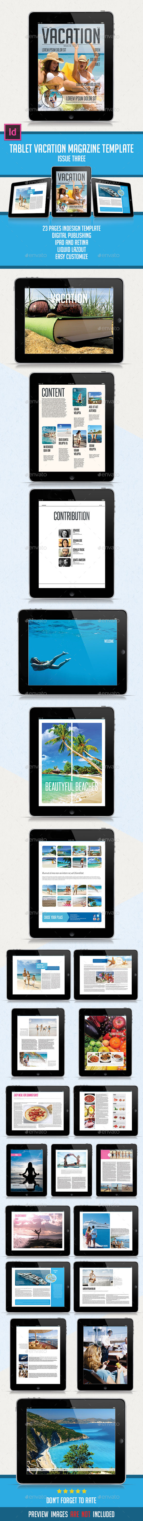GraphicRiver Tablet Vacation Magazine Issue Three 9201727