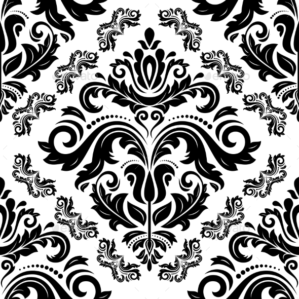 GraphicRiver Damask Seamless Vector Pattern 9201785