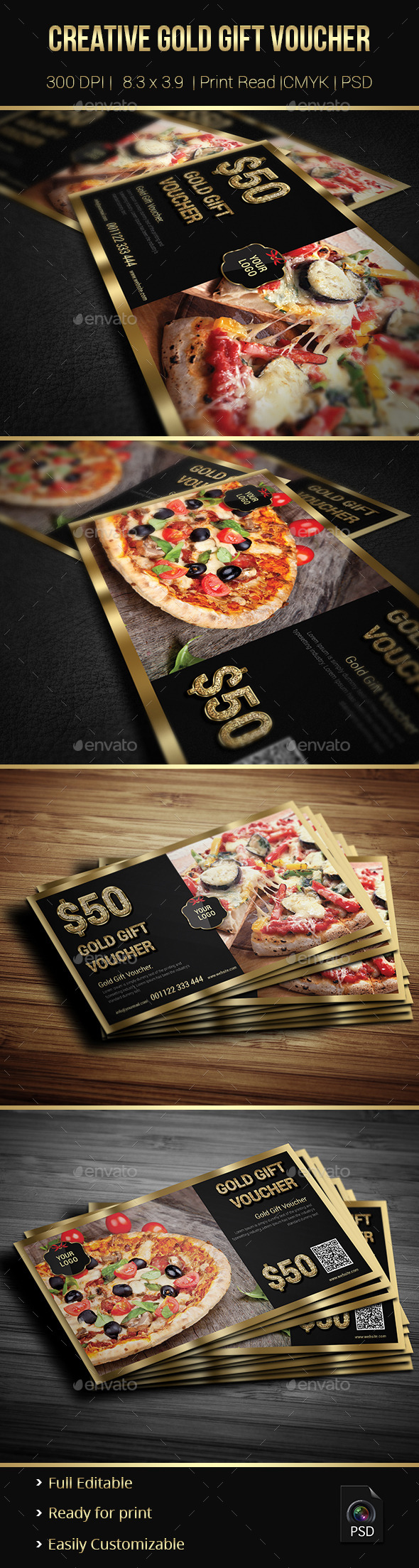 GraphicRiver Creative Gold Gift Voucher 02 9148301