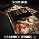 Creative Gold Gift Voucher 02 - GraphicRiver Item for Sale