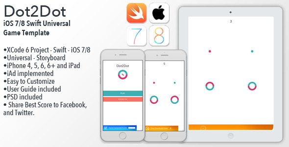 CodeCanyon Dot2Dot iOS Universal Game Template Swift 9201900