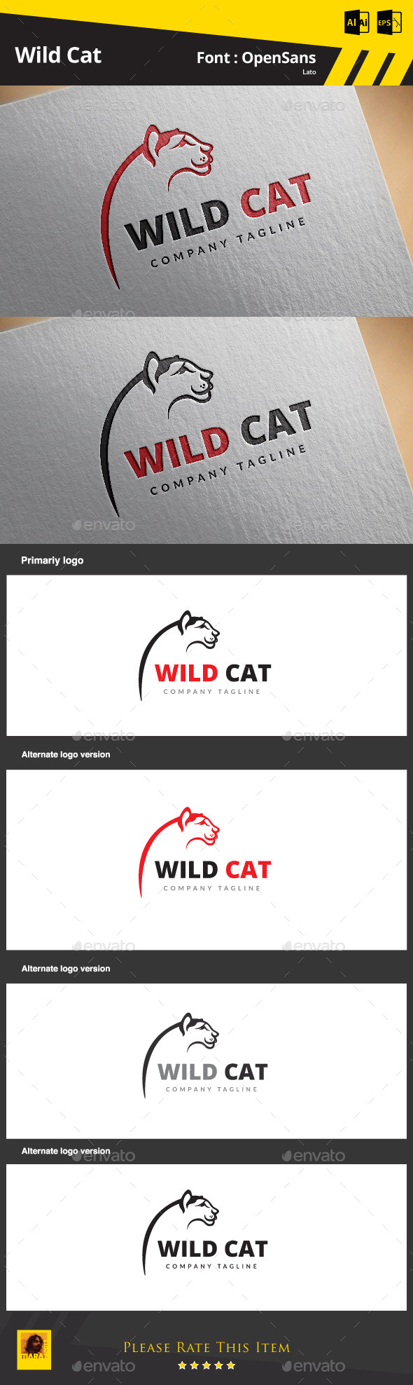 GraphicRiver Wild Cat 9186597