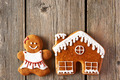 Christmas gingerbread girl and house cookies - PhotoDune Item for Sale