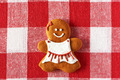 Christmas homemade gingerbread girl cookie - PhotoDune Item for Sale