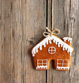 Christmas homemade gingerbread house cookie - PhotoDune Item for Sale