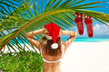 Woman in bikini on a beach at christmas - PhotoDune Item for Sale