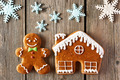 Christmas gingerbread man and house cookies - PhotoDune Item for Sale