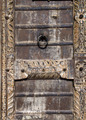 Detail of an old wooden door