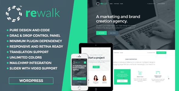 ThemeForest ReWalk Business WordPress Theme 8948243