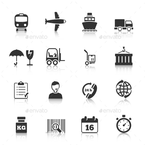 GraphicRiver Logistics Icons Set 9202235
