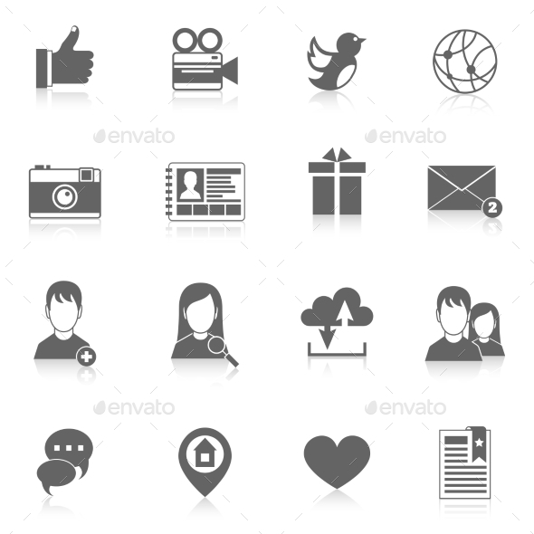 GraphicRiver Social Media Icons Set 9202238