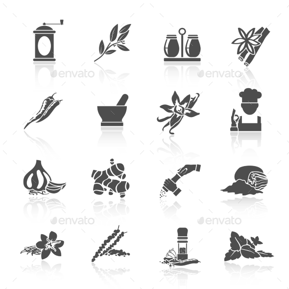GraphicRiver Spices Icons Black 9202257