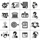 Business Management Icons Black - GraphicRiver Item for Sale