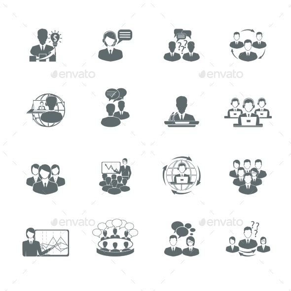 GraphicRiver Meeting Icons Set 9202290