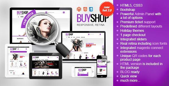 BUYSHOP - Premium Responsive Retina Magento theme - Fashion Magento
