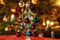 Decoration Glass Christmas Tree in Front of Christmas Tree - PhotoDune Item for Sale