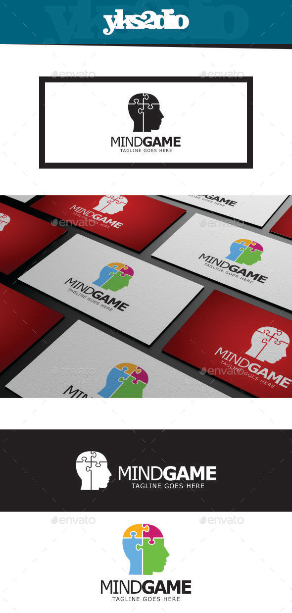 GraphicRiver Mind Game Logo 9202669