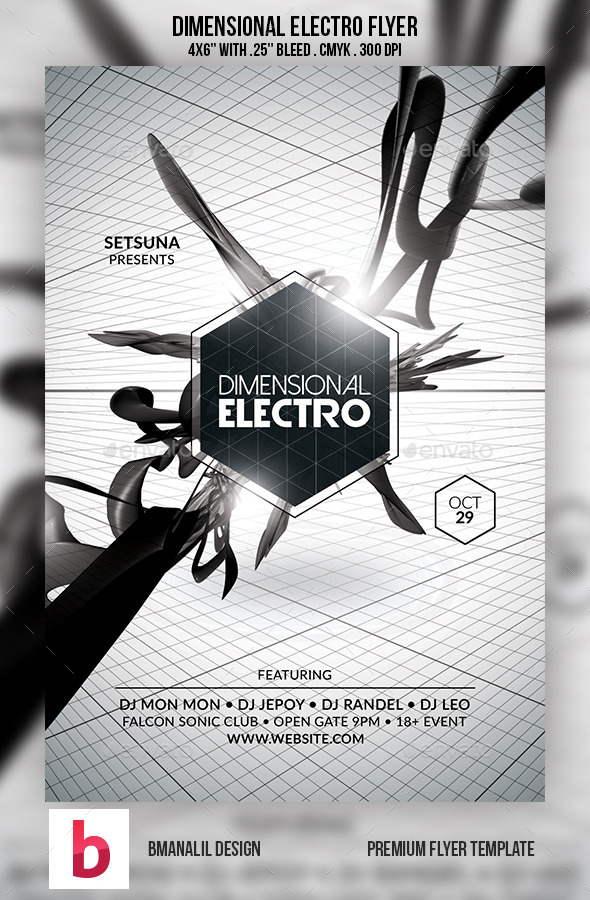 GraphicRiver Dimensional Electro Flyer 9202809