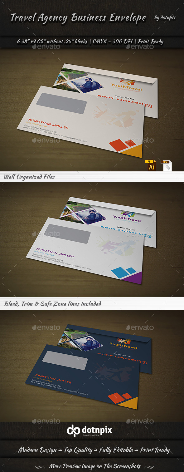 GraphicRiver Travel Agency Envelope 9202936
