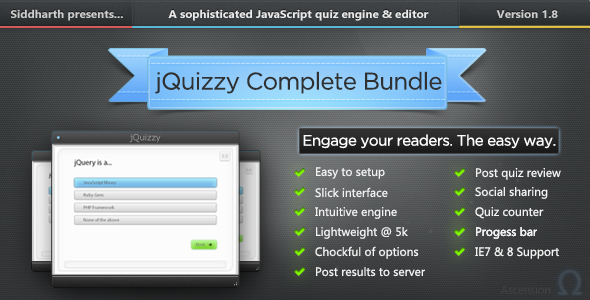 CodeCanyon jQuizzy Classic Complete Bundle 9203073