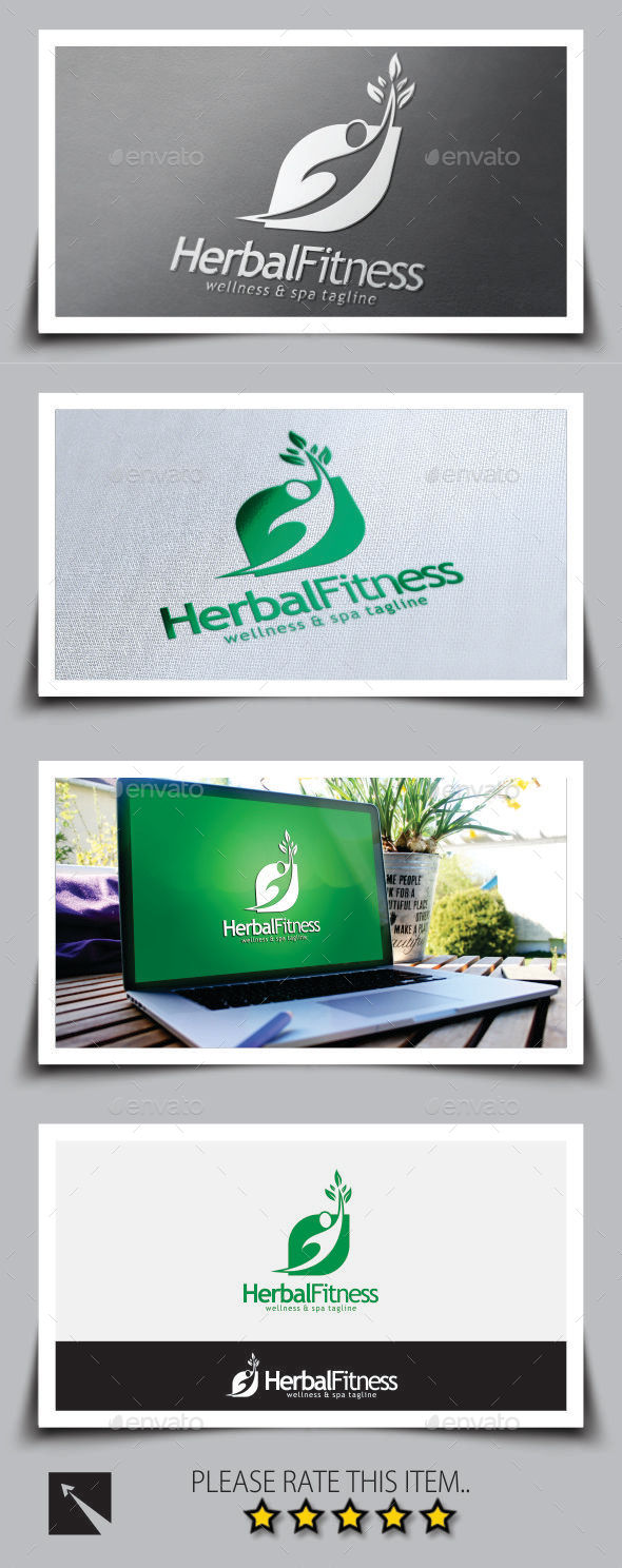 GraphicRiver Herbal Fitness Logo Template 9203131