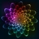 Rainbow Colors Vector Cosmic Flower - GraphicRiver Item for Sale