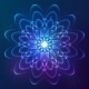 Blue Shining Vector Cosmic Flower - GraphicRiver Item for Sale