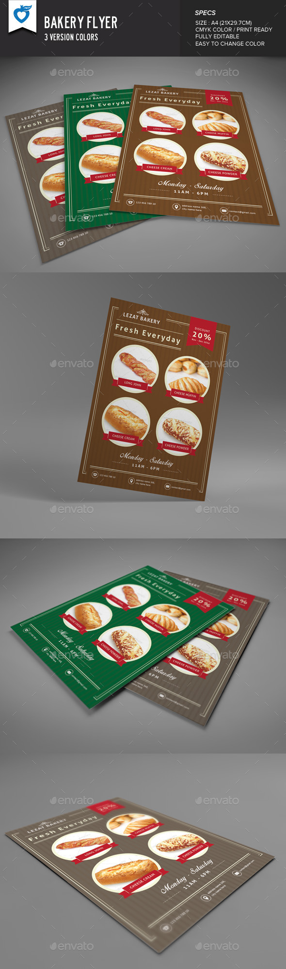 GraphicRiver Bakery Flyer 9203428