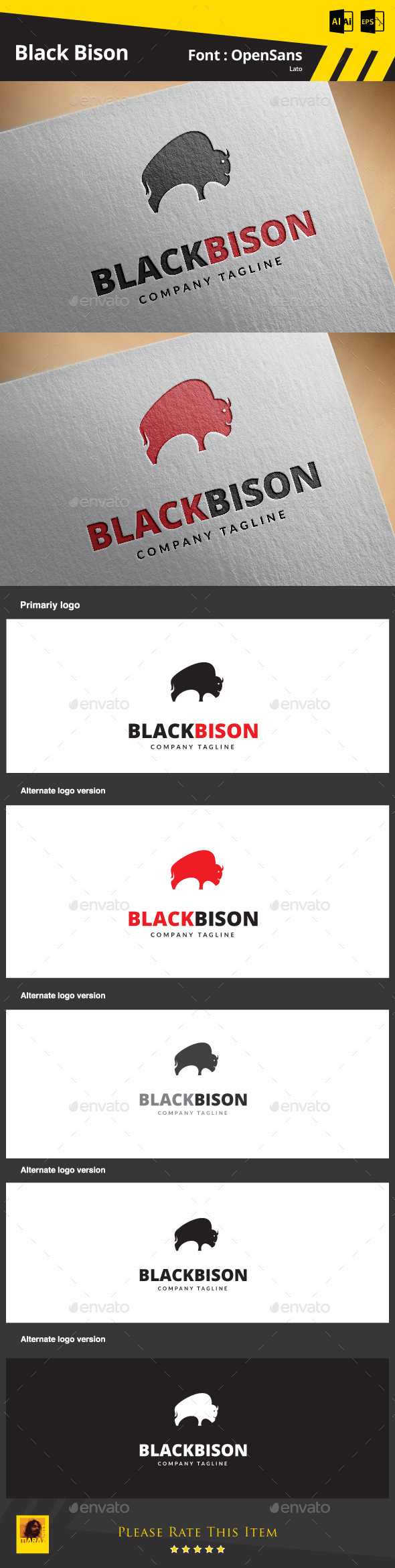 GraphicRiver Black Bison 9187698