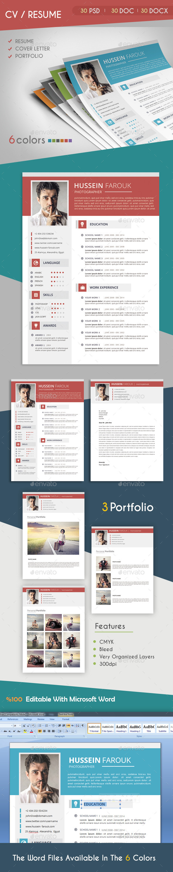 GraphicRiver CV Resume 2 9203604