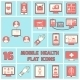 Mobile Health Icons Set Flat Line - GraphicRiver Item for Sale