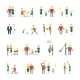 Family Icons Set Flat - GraphicRiver Item for Sale