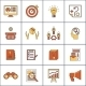 Marketers Flat Line Icons Set - GraphicRiver Item for Sale
