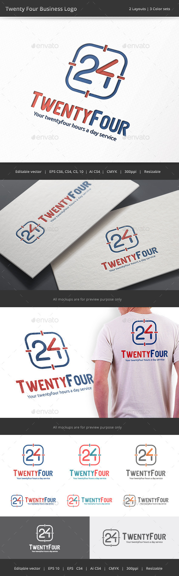 GraphicRiver Twenty Four Business Number 24 Logo 9203718