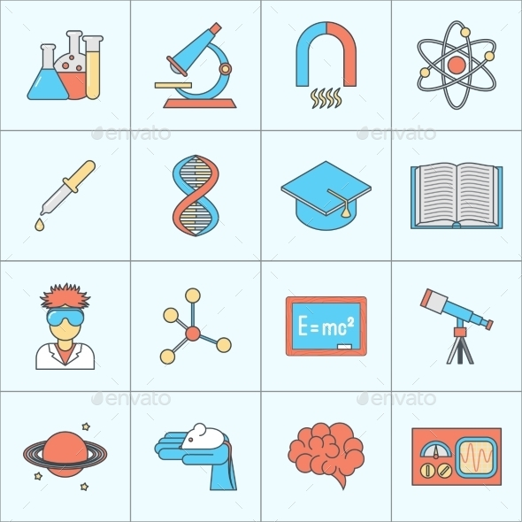GraphicRiver Science and Research Icons 9203720