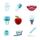 Dental Icons Realistic - GraphicRiver Item for Sale